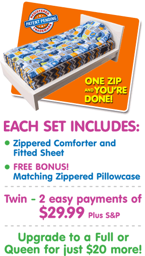 Order Zipit Bedding® Today!